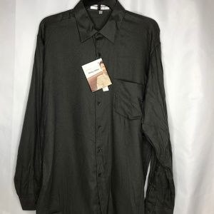 New Perry Ellis Gray Mens Size Large Shirt